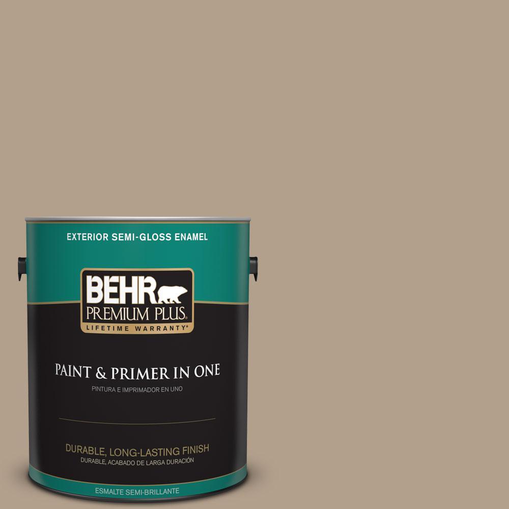 BEHR Premium Plus 1-gal. #PWL-85 Stepping Stones Semi-Gloss Enamel Exterior Paint