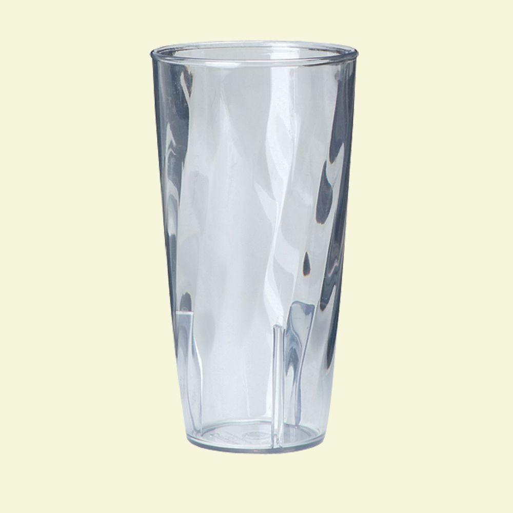 21.70 oz. Polycarbonate Swirl Pattern Tumbler in Clear (Case of 36)