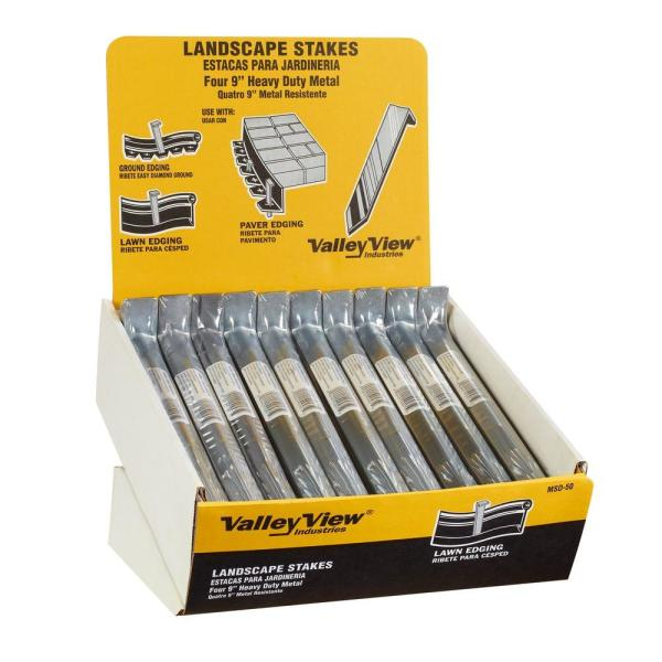 Valley View Industries 9 5 In X 1 In X 0 13 Ft Metal Stakes 4 Pack Msd 50 The Home Depot