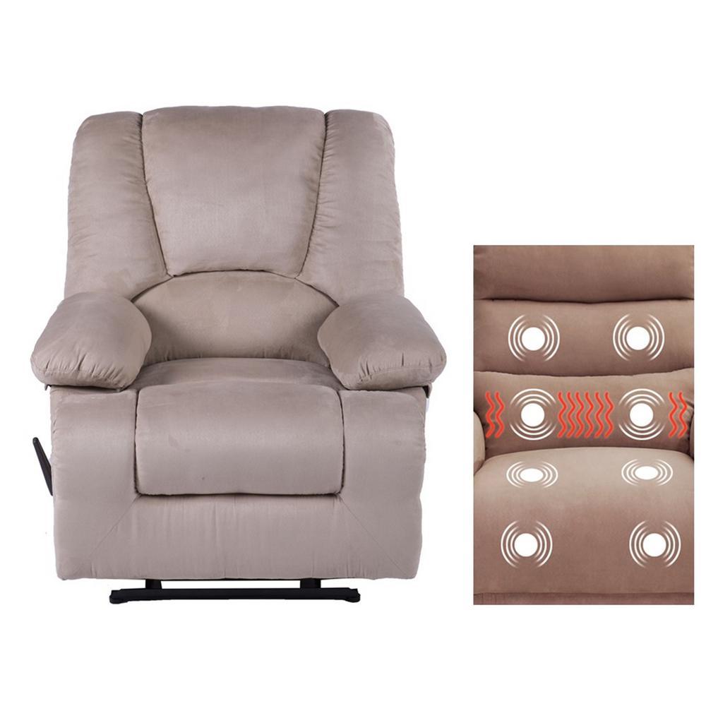 Calla Casa Series Oversize Massage Recliner with Heat, Massage Storage, USB Ports and Remote