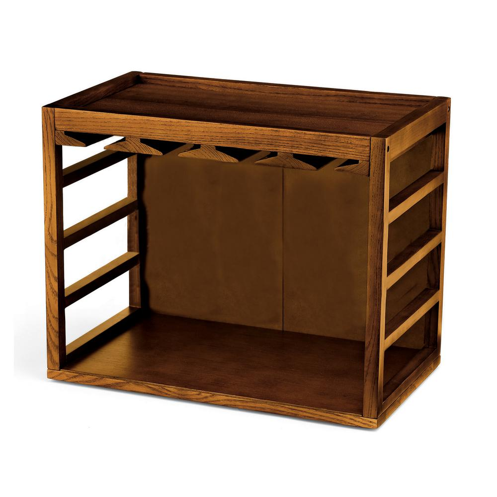 Wine Enthusiast Cube Stack Wine Glass Rack In Walnut Stain