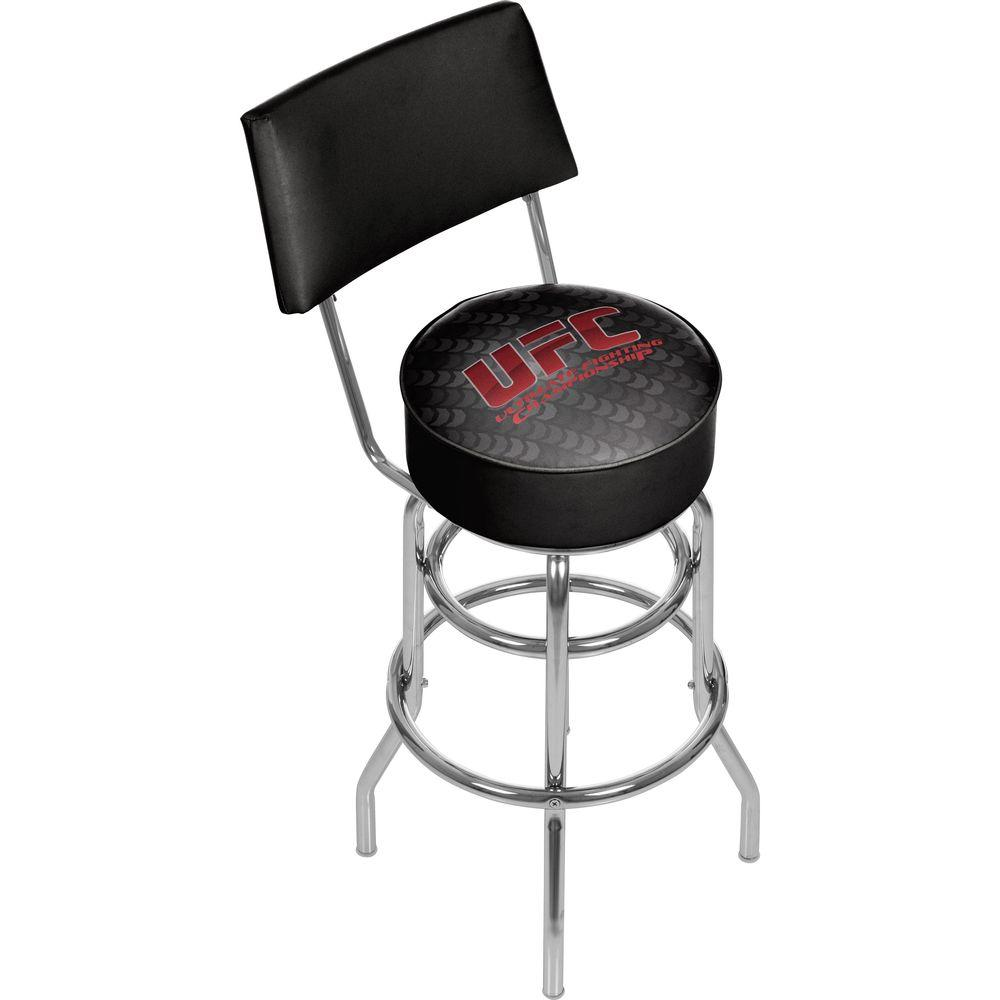 Trademark UFC III 31 in. Chrome Swivel Cushioned Bar Stool