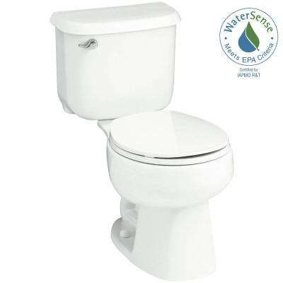 Windham 14 in. Rough-In 2-piece 1.28 GPF Single Flush Round Toilet in White