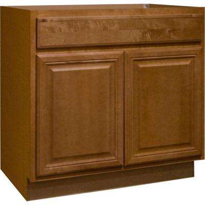 Cambria Assembled 36x34.5x24 in. Base Kitchen Cabinet with Ball-Bearing Drawer Glides in Harvest
