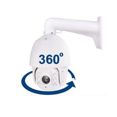 Indoor or Outdoor CCTV PTZ Dome Wired 30x Optical Zoom Security IP Standard Surveillance Camera with Night Vision