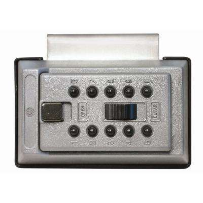 Portable Over-The-Door Mount Box with Pushbutton Combination Lock, Titanium