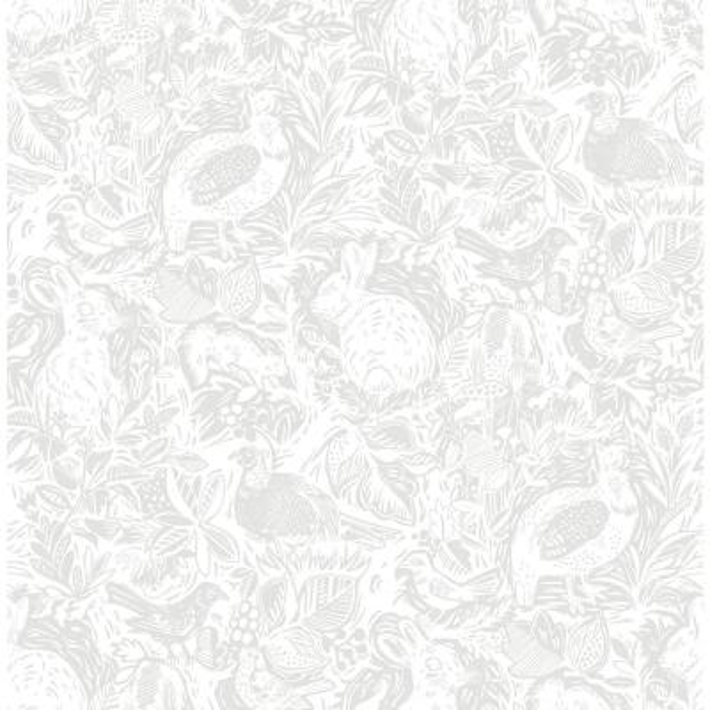 Revival Light Grey Fauna Wallpaper
