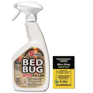 5-Minute Bed Bug Killer 32 oz. and Insect Bite and Sting Relief Gel Pack
