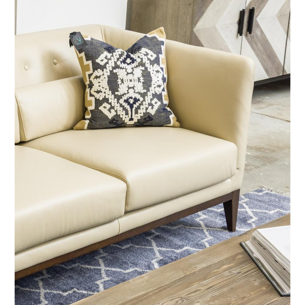Cielo Navy 18 in. x 18 in. Square Pattern Stonewashed Decorative