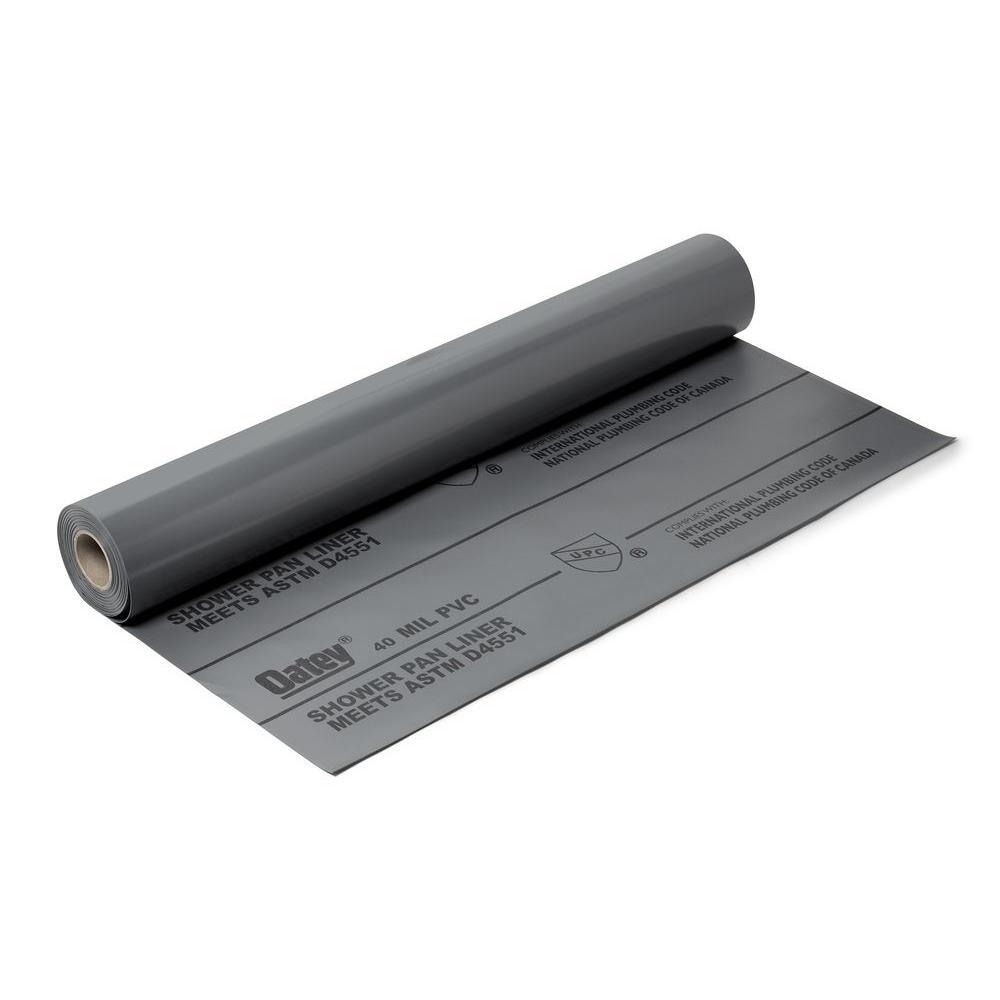 5 ft. x 40 ft. PVC Shower Pan Liner Roll in Gray