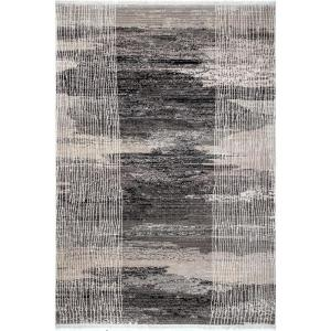 Cammie Vintage Abstract Gray 8 ft. x 10 ft. Area Rug