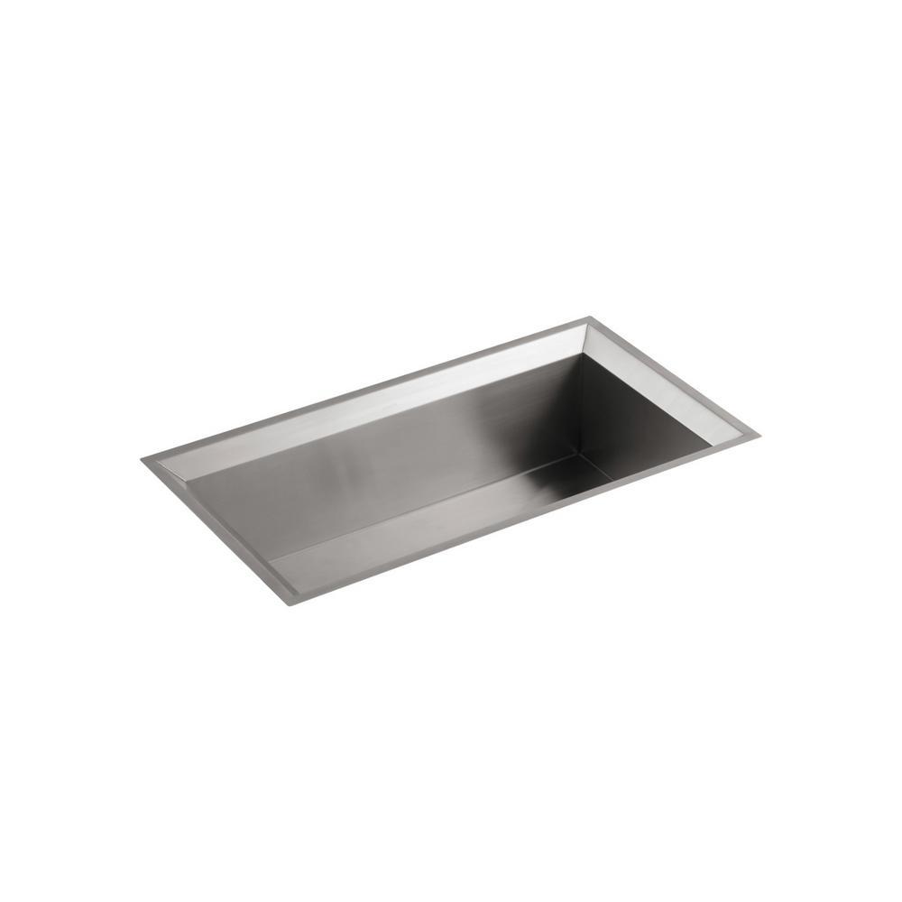 Poise Undermount Stainless Steel 33 in. Single Bowl Kitchen Sink