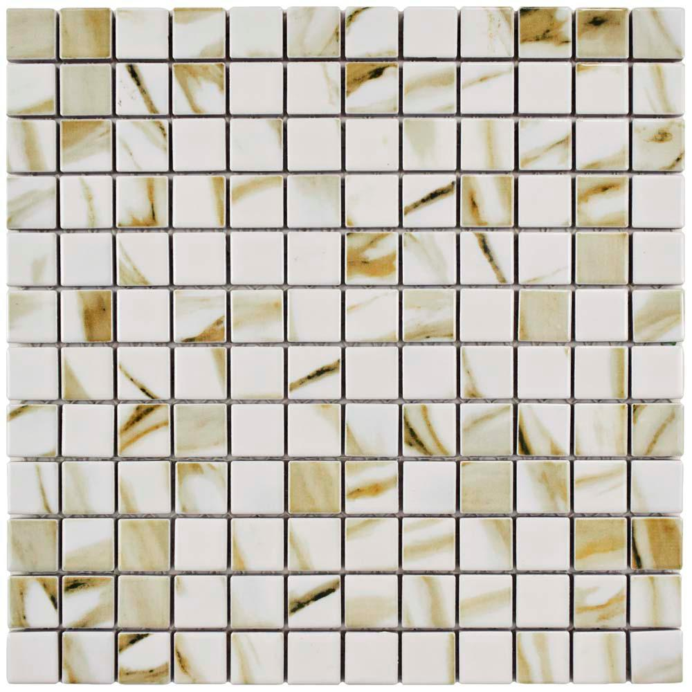 Floor Bathroom Interlocking Tile Flooring The Home Depot - 6 x 12 white porcelain tile
