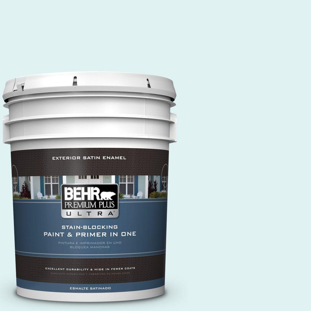 BEHR Premium Plus Ultra 5-gal. #500C-1 Himalayan Mist Satin Enamel Exterior Paint