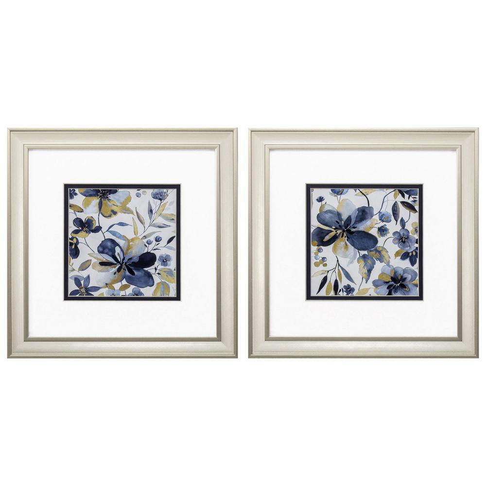 Homeroots Victoria Champagne Gold Color Gallery Frame Set Of 2 365174 The Home Depot