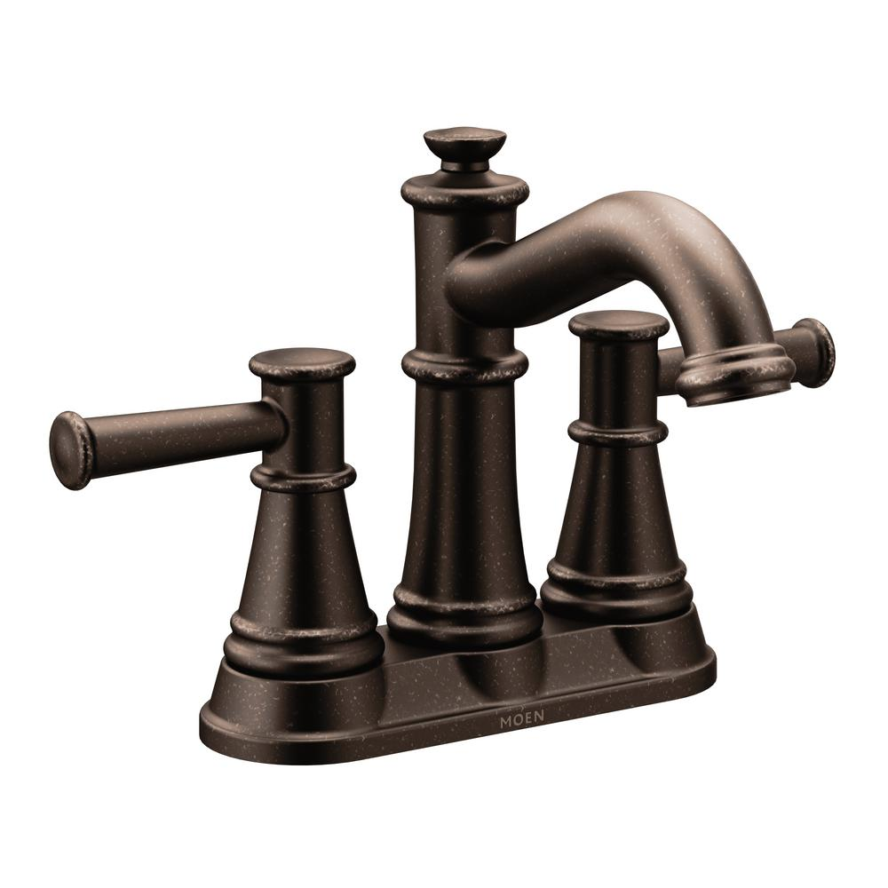 Bon MOEN Belfield 4 In. Centerset 2 Handle Bathroom Faucet In Oil Rubbed Bronze