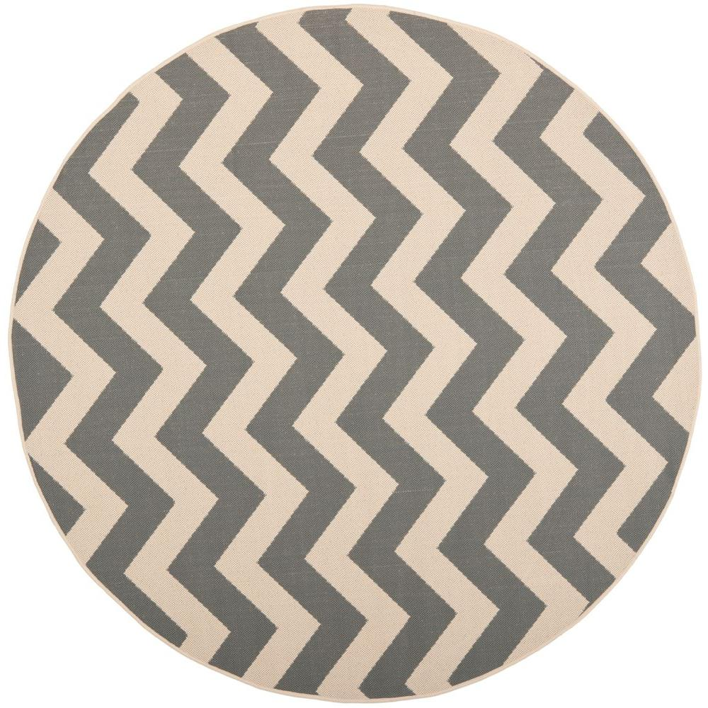 Indoor/Outdoor Round Area Rug  sc 1 st  Home Depot & Safavieh Courtyard Gray/Beige 8 ft. x 8 ft. Indoor/Outdoor Round ...
