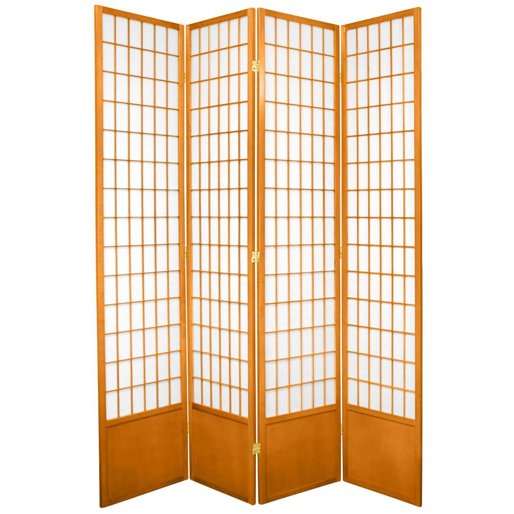7 ft. Honey 4-Panel Room Divider