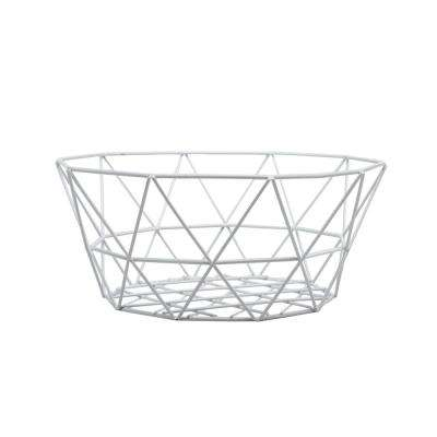 White Farmhouse Chicken Basket