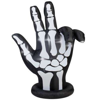 84 in. Inflatable Animated Skeleton Hand