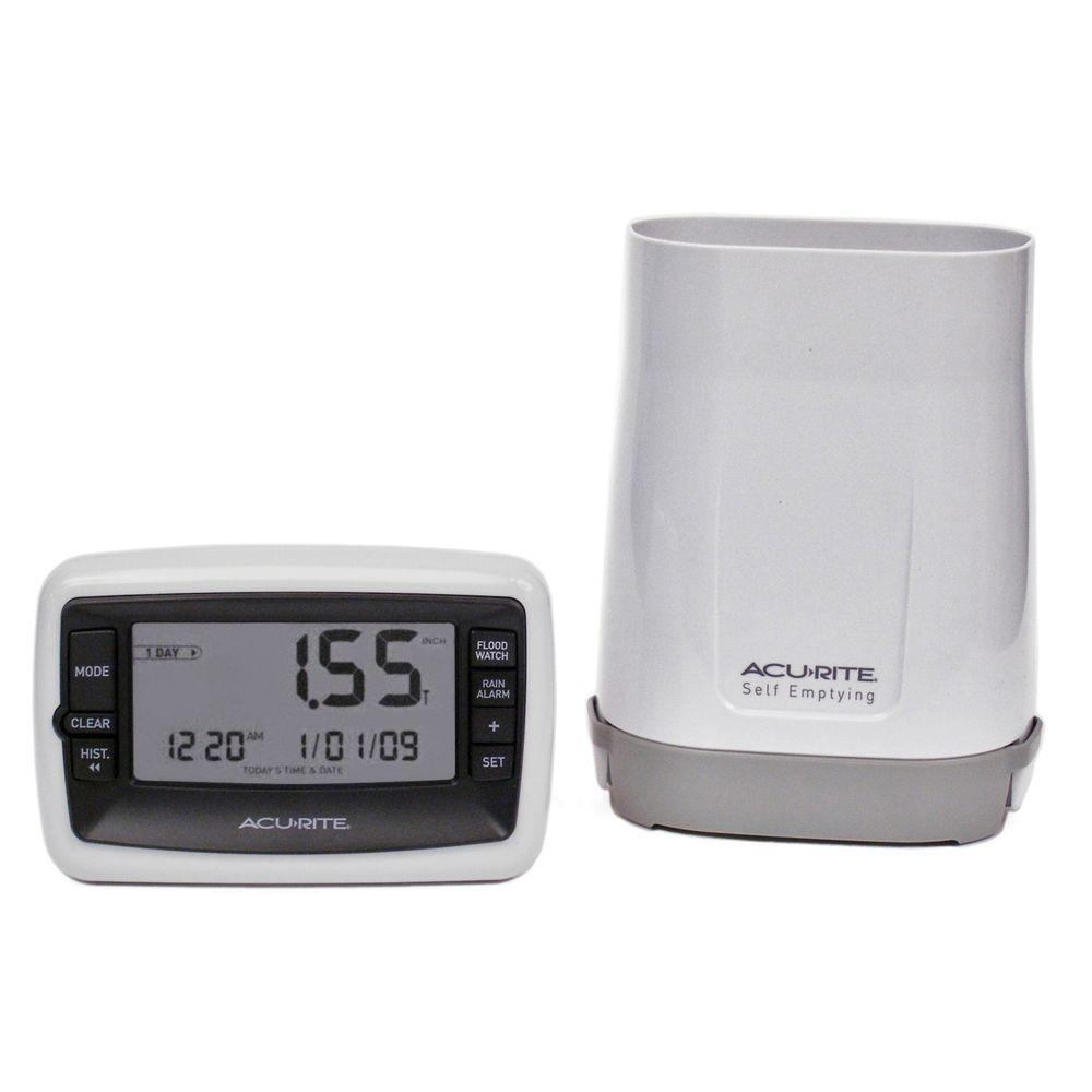 Digital Rain Gauge with Wireless Self-Emptying Rain Collector