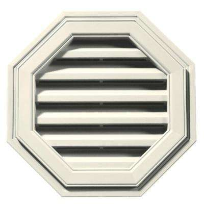18 in. Octagon Gable Vent in Parchment