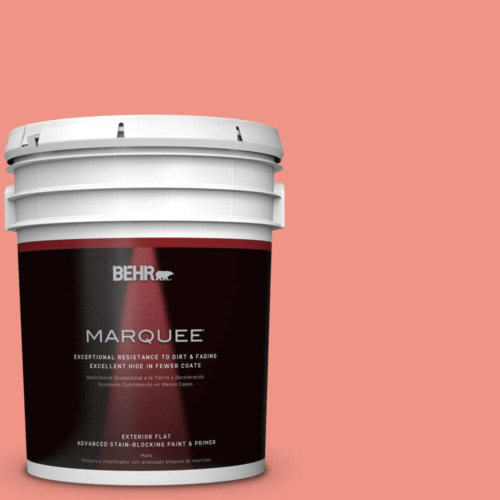 5-gal. #P180-4 Guava Jelly Flat Exterior Paint