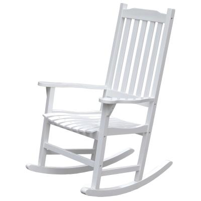 Phenomenal Northbeam White Acacia Wood Outdoor Rocking Chair Mpg Pt Pdpeps Interior Chair Design Pdpepsorg