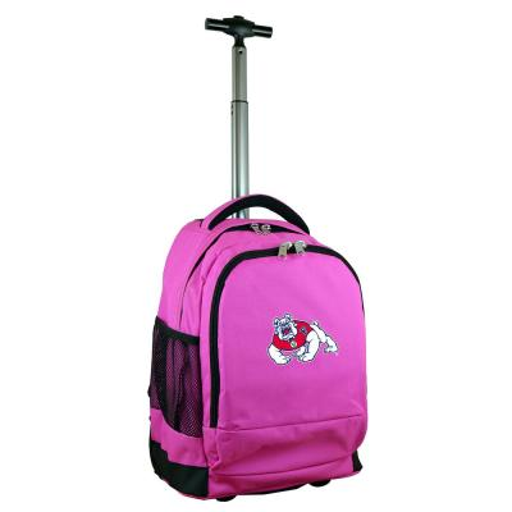 Denco NCAA Fresno State 19 in. Pink Wheeled Premium Backpack
