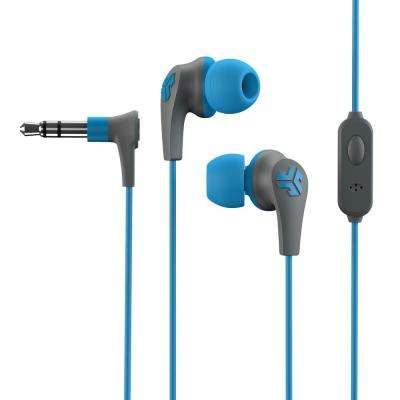 J-Buds Pro Wired Earbuds in Blue/Grey
