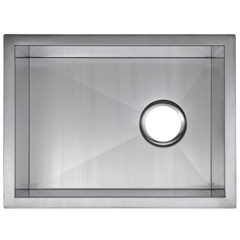 Undermount Stainless Steel 15 in. Single Bowl Bar Sink in Satin