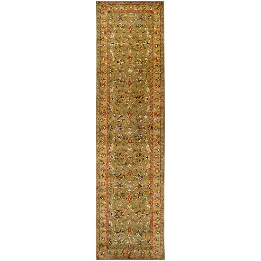 Artistic weavers franklin fern 3 ft x 12 ft rug runner for Depot minden