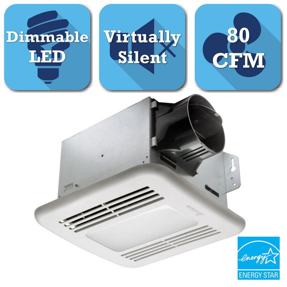 GreenBuilder Series 80 CFM Ceiling Exhaust Bath Fan with LED Light