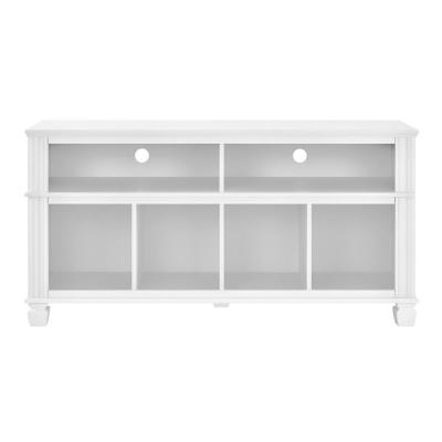 Kempton 54 in. White Particle Board TV Stand Fits TVs Up to 55 in. with Cable Management