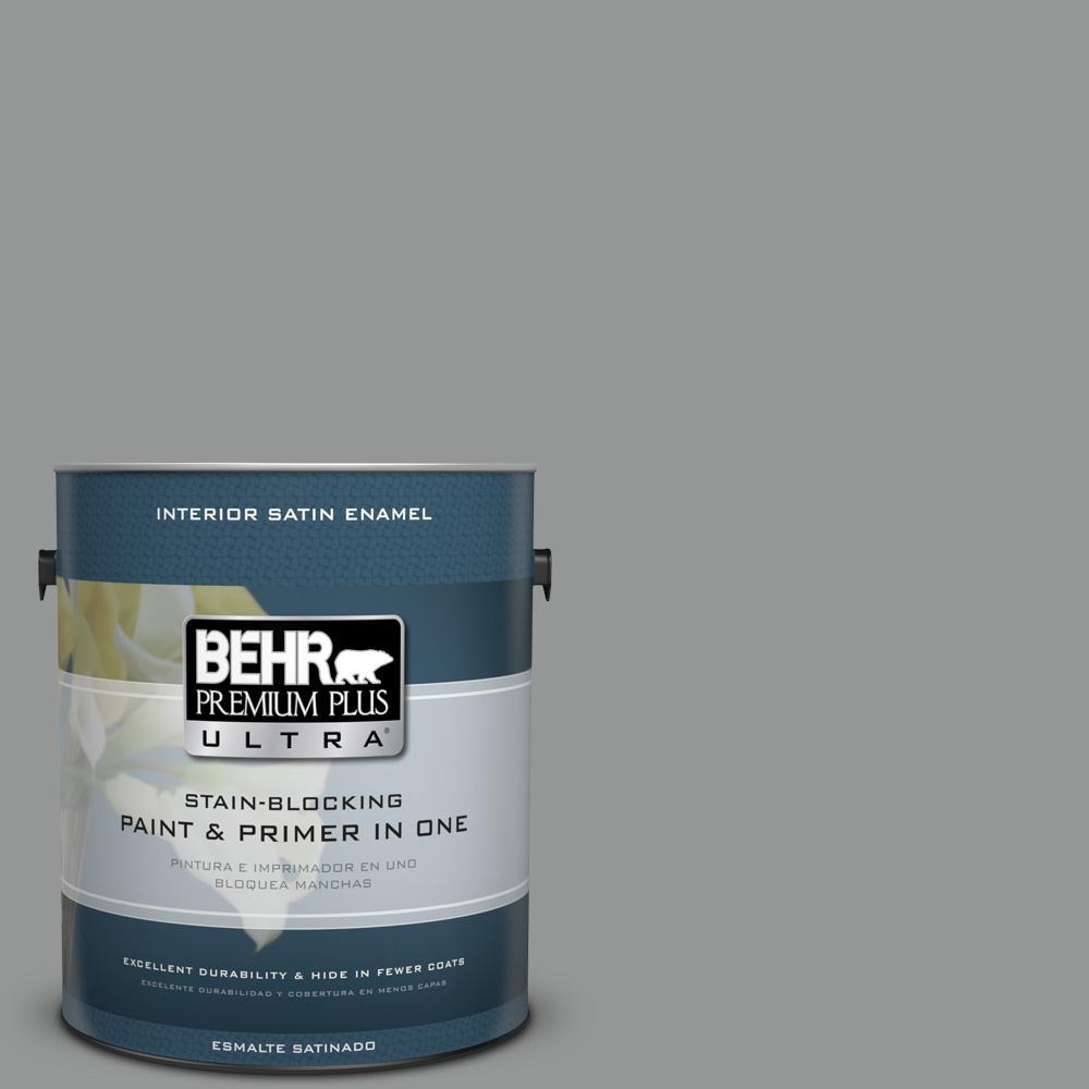 1 gal. #PPU24-19 Shark Fin Satin Enamel Interior Paint