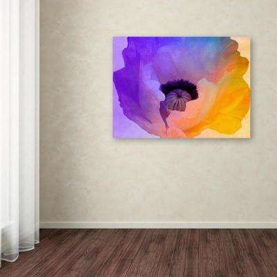 """35 in. x 47 in. """"Poppy Gradient III"""" by Color Bakery Printed Canvas Wall Art"""