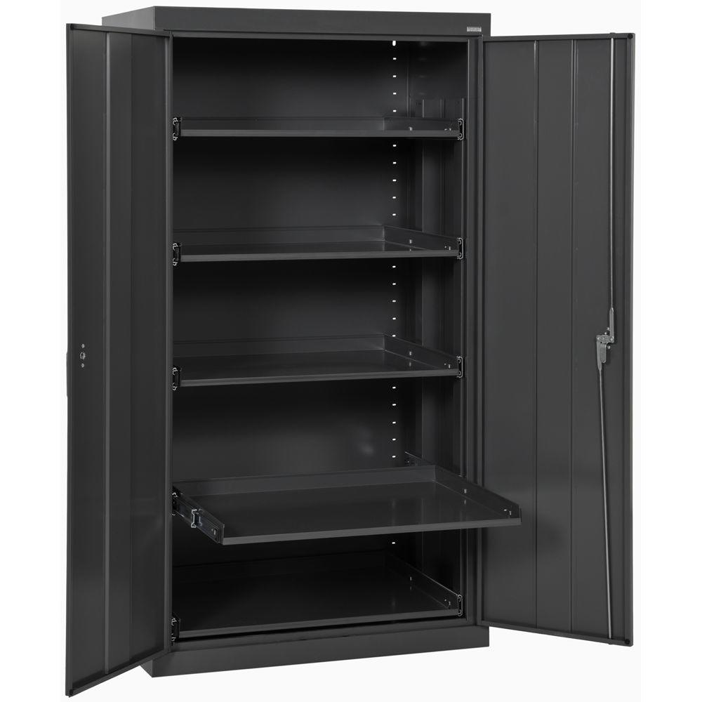 home depot metal cabinets 66 in h x 36 in w x 24 in d 5 shelf heavy duty steel 16480