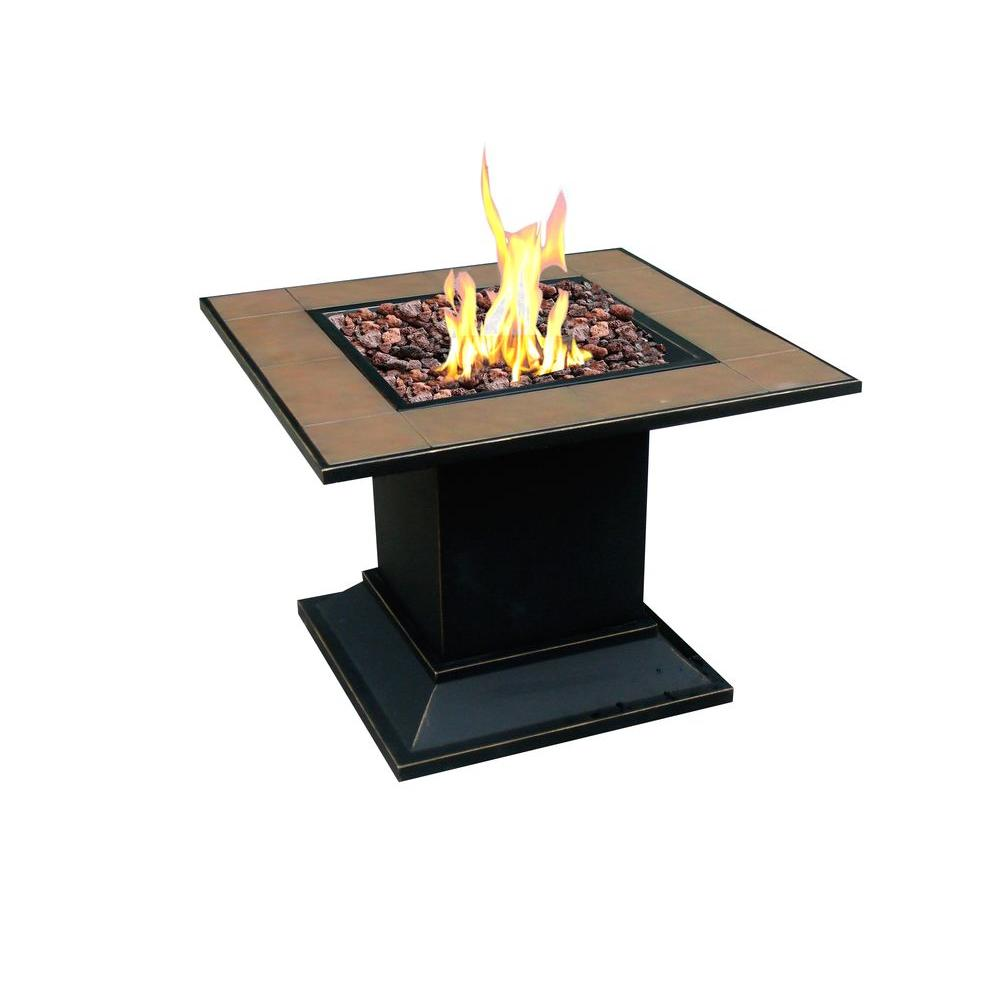 null Carnegie Propane Gas Fire Pit in Steel Finish-DISCONTINUED