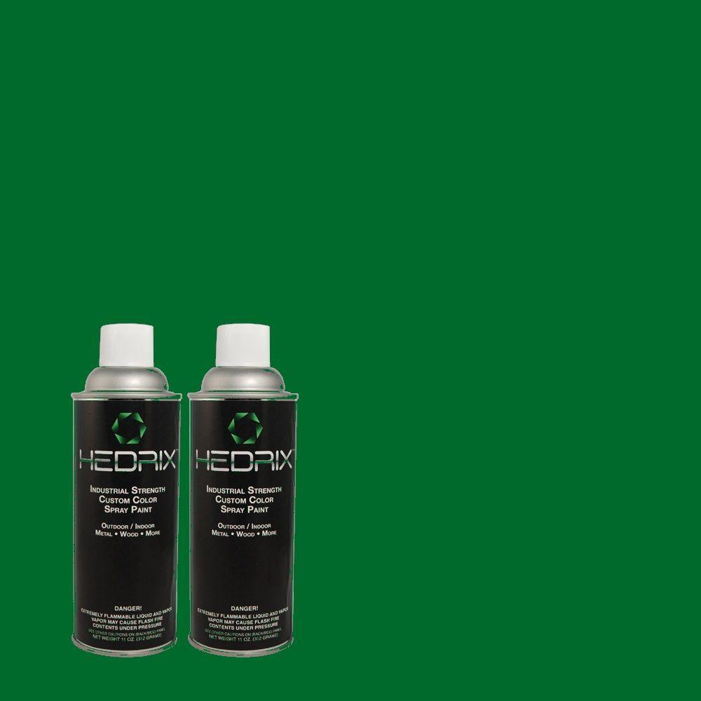 Hedrix 11 oz. Match of PPKR-32 Jumping Frog Green Low Lustre Custom Spray Paint (2-Pack)
