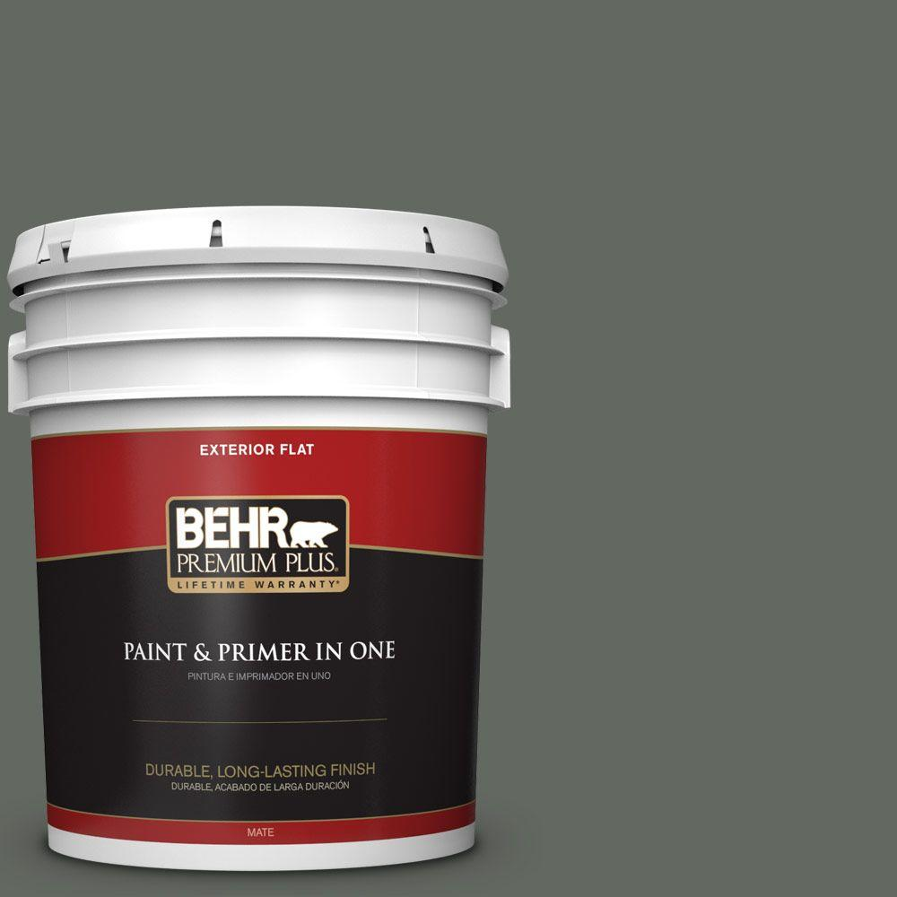 5-gal. #N410-6 Pinecone Hill Flat Exterior Paint