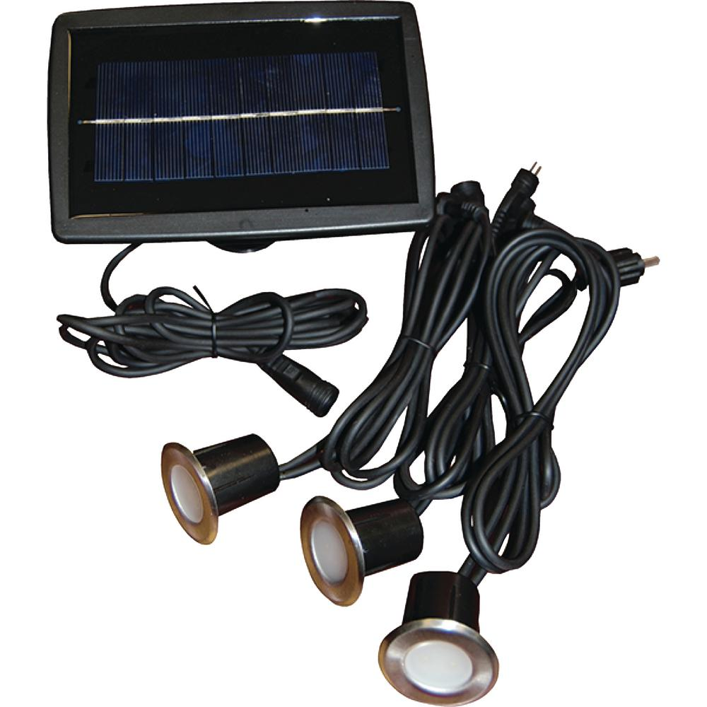 Taylor Made Solar Led Recessed Wired Light Set
