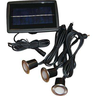 Solar LED Recessed Wired Light Set