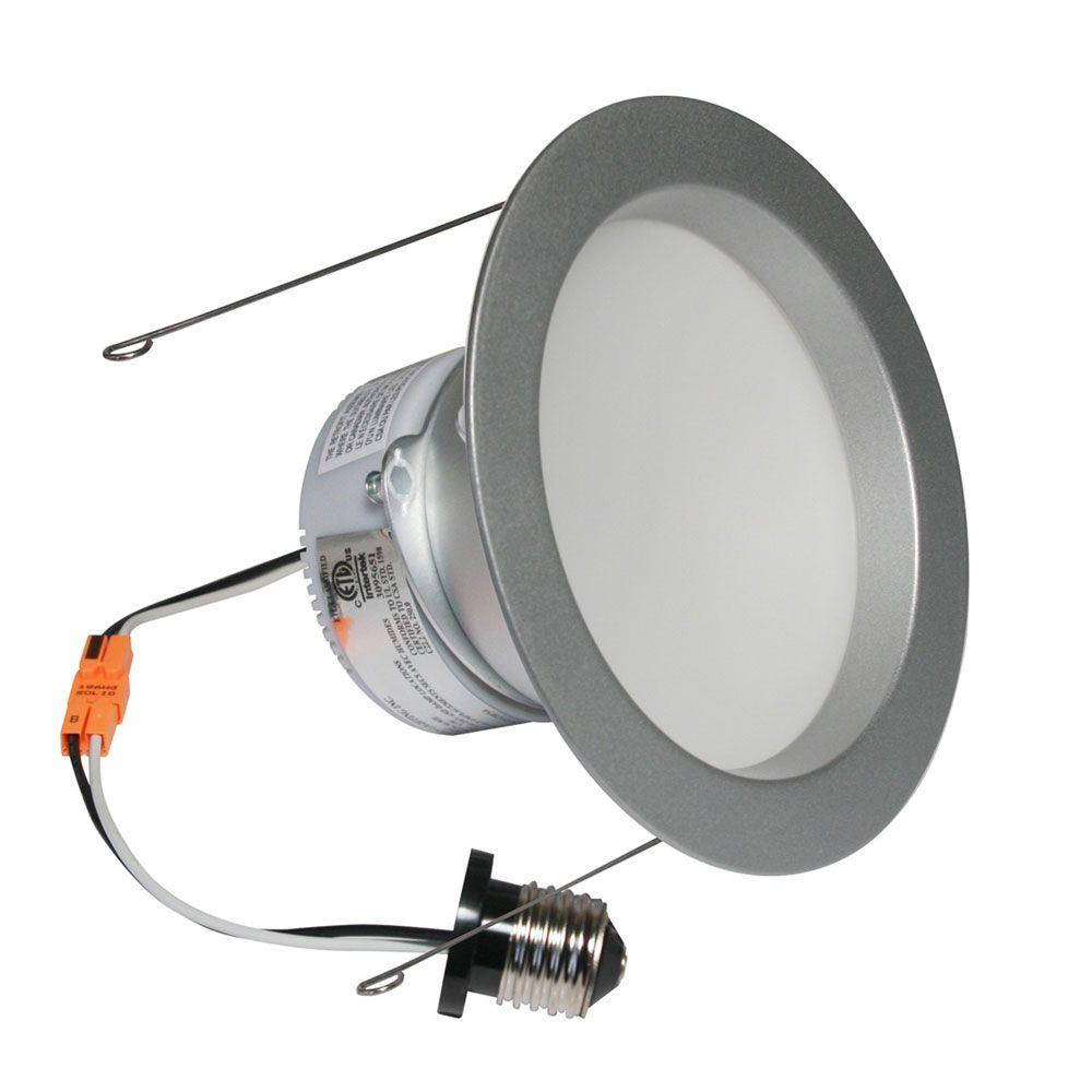 Irradiant 6 in. Brushed Steel Dimmable LED Recessed Downlight