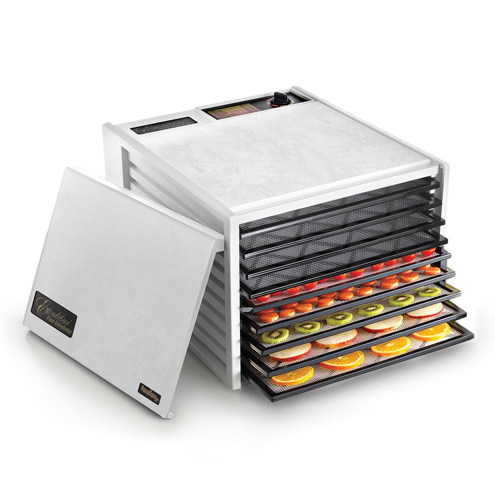 Excalibur 9-Tray Food Dehydrator, White