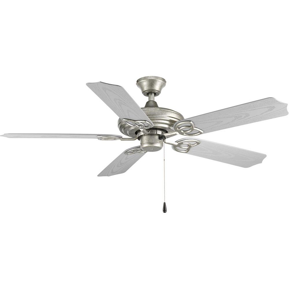 Progress Lighting Air Pro Collection 52 in. Indoor or Outdoor Galvanized Ceiling Fan