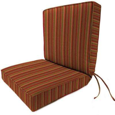 sunbrella dorsett cherry outdoor dining chair cushion