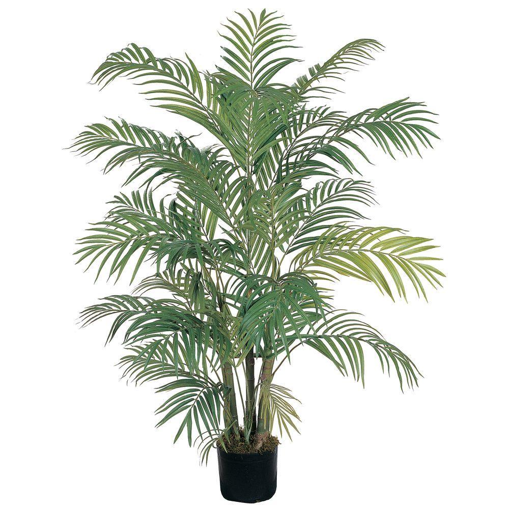 Nearly Natural 4 ft. Areca Silk Palm Tree