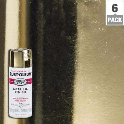 11 oz. Bright Coat Metallic Gold Spray Paint (6-Pack)