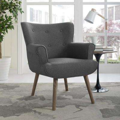 Cloud Gray Upholstered Armchair