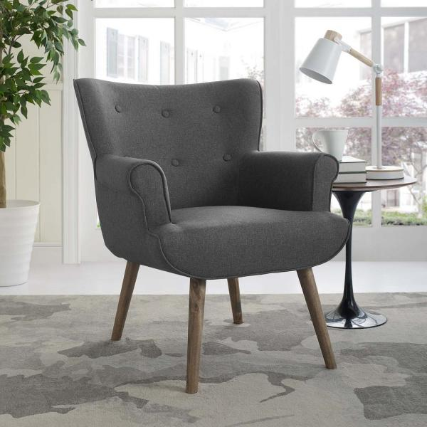 MODWAY Cloud Gray Upholstered Armchair EEI-2941-GRY